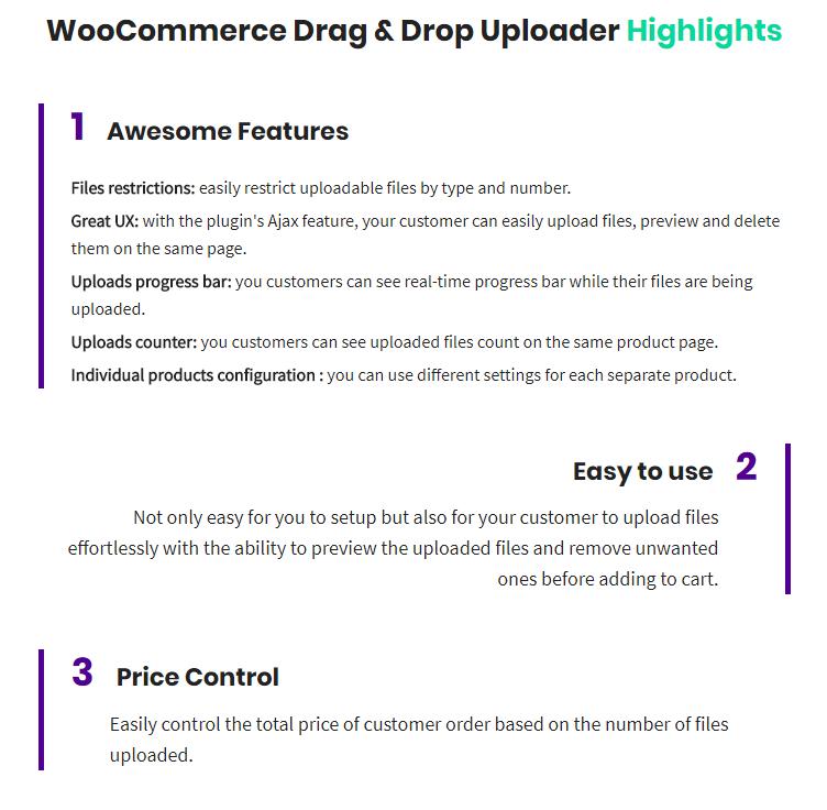 WooCommerce Drag & Drop Uploader | Ajax File Upload - 1